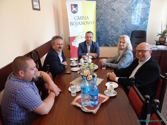 Prezes Zarządu Grupy Browary Regionalne Jakubiak Marek Jakubiak gościł w Urzędzie Miejskim w Bojanowie