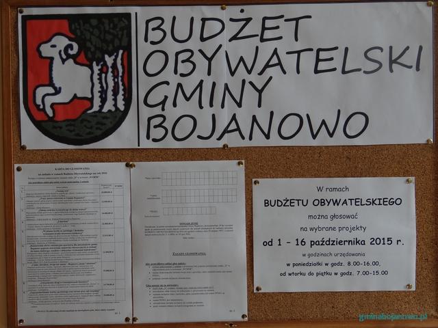 Budżet Obywatelski Gminy Bojanowo - głosowanie