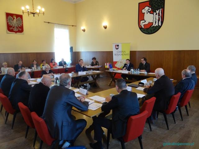 Informacja zXVIII sesji Rady Miejskiej wBojanowie